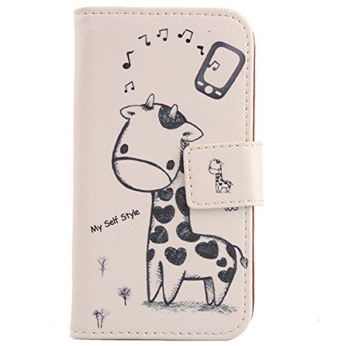 Lankashi PU Flip Leder Tasche Hülle Case Cover Schutz Handy Etui Skin Für Archos 55 Platinum 5.5