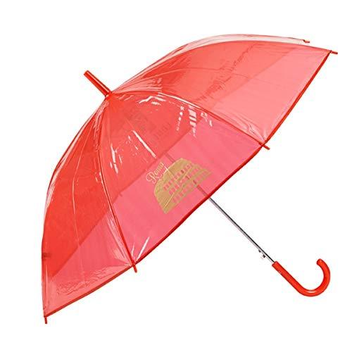 GOTTA - Paraguas Infantil niño/niña Transparente Color. Antiviento y automático. Dibujo Ciudades - Rojo