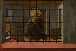 The High Quality Polyster Canvas Of Oil Painting 'Fra Filippo Lippi And Workshop - Saint Mamas In Prison Thrown To The Lions,1455-60' ,size: 8x12 Inch / 20x30 Cm ,this High Resolution Art Decorative Prints On Canvas Is Fit For Bathroom Decoration And Home Artwork And Gifts