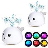 Addmos Badespielzeug, 2 x Wasser Baby Badespielzeug mit Licht Kinder Kleinkinder Spielzeug (EIN Paar)