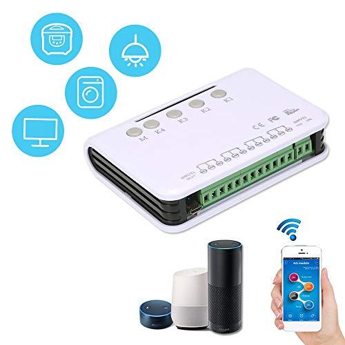U – 4 kanalen Smart Control Switch Module Wireless Universal DC 5 V WiFi schakelaar timer telefoon app afstandsbediening garage schakelaar deur