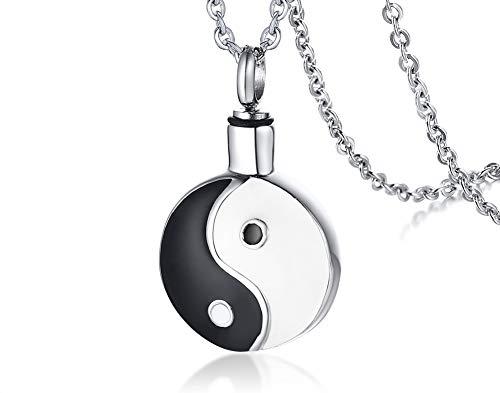 VNOX Acier Inoxydable Deux Tons Yin Yang Bagua Talisman Prot