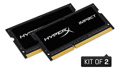 HyperX Impact HX321LS11IB2K2/16 Arbeitsspeicher 2133 MHz DDR3L CL11 SODIMM 1.35 V, 16GB Kit (2x8GB)