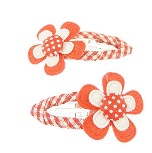 Paire de 2 pièces d'école à clipser pour filles et femmes - Motif floral rétro