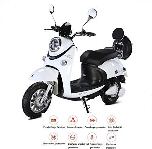 Elektromobilität Motorroller Elektromotorrad 48V / 60V Erwachsener Mann und Frau gehen Blei-Säure-Batterie Licht Erwachsener Batterie Auto weiß rosa 800w