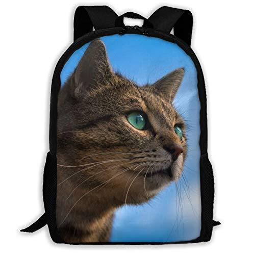 Cats Snout Glance Schoolrugzak, lichte schoudertassen voor volwassenen voor sportief lopen in de sportschool, 43x28x16 cm