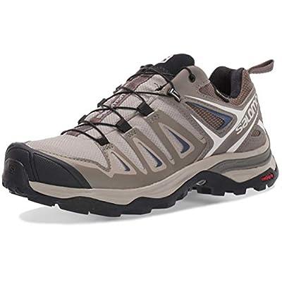 Salomon Women's X Ultra 3 GTX Hiking Shoes, Vintage Kaki/Bungee Cord/Crown Blue, 7.5