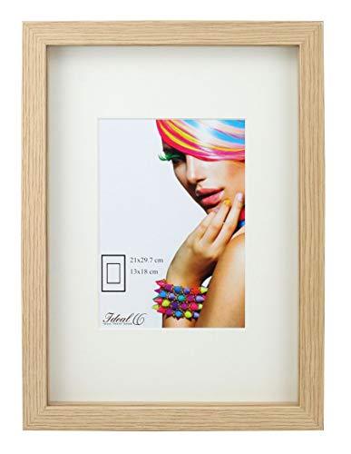 Ideal Trend 3D Objektrahmen Holz Bilderrahmen A4 23x23 30x40 40x50 50x70 Shirt Trikot Rahmen: Farbe: Natur | Format: 50x70