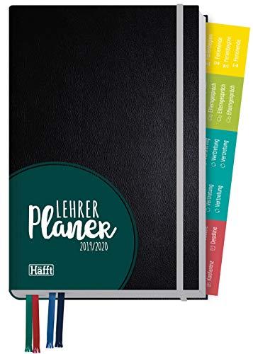 Lehrer-Planer 2019/2020 A5+ [Schwarz] Lehrerkalender mit Sprüchen, Stickern und vielen nützlichen Features - smart & gut gelaunt das Schuljahr planen!