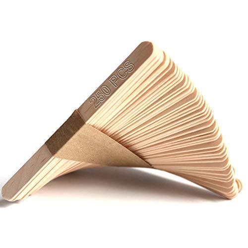 AdoN 250 Stück Holztiele, Eisstiele aus Holz, 11.4 cm lang,1 cm breit, Diligencer aus Naturholz, Holzstäbchen Holzspatel, Holzstäbchen für Kinder, Eiscreme-stiele, Handwerk, Basteln