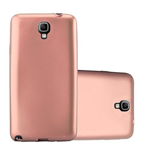 Cadorabo Funda para Samsung Galaxy Note 3 Neo en Metallic Oro Rosa – Cubierta Proteccíon de Silicona TPU Delgada e Flexible con Antichoque – Gel Case Cover Carcasa Ligera
