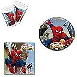 CAPRILO. Lote de Cubiertos Infantiles Desechables Ultimate Spiderman...