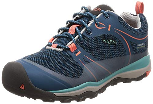 KEEN Terradora WP Shoes Children Aqua sea/Coral 2019 Schuhe, Aqua Sea/Coral-youth, US 1 | EU 32/33
