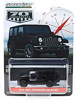 New DIECAST Toys CAR Greenlight 1:64 Anniversary Series 9 - Jeep Wrangler Unlimited 2016 75TH Anniversary Edition (1944-2019) (Black) 28000-F