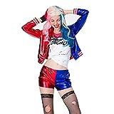 TDHLW Disfraces de Halloween para Mujer, Disfraz de Cosplay, Incluye Abrigo + Camiseta + Guantes 1+ Pantalones + Peluca,XL
