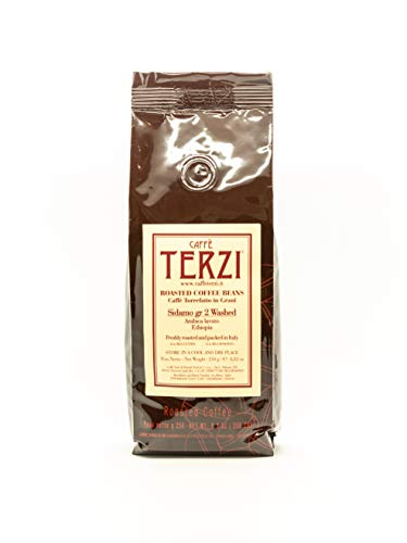TERZI - Caffè Pregiato, Tostatura Artigianale e Manuale - Sidamo gr.2, Arabica Lavato, Ethiopia - 250g in grani