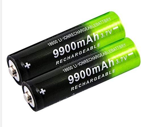 Baterías para 3 7V 9900Mah batería Recargable para Linterna Linterna Faro batería Recargable de Iones de Litio - (6 Piezas)