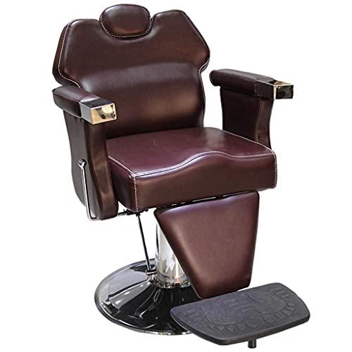 N&O Casa de renovación Sillón de Peluquero reclinable para Todo Uso Salón SPA Belleza Bomba hidráulica Sillas de barbería Equipo