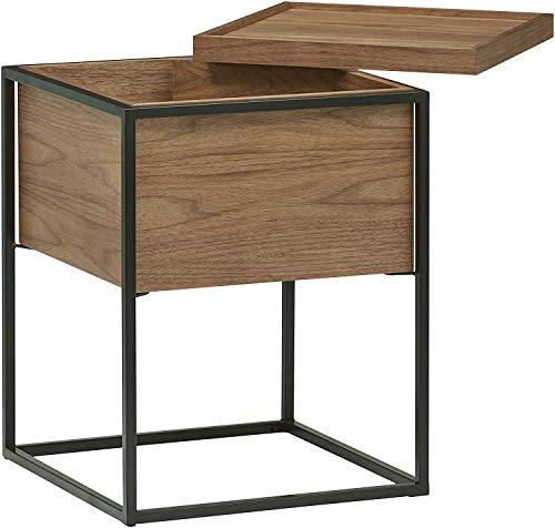ZQY houten metalen bijzettafel met opbergbank, tafel of salontafel in de cupboeken worden geplaatst om een groot aantal producten op te bergen om je huis netjes te maken en te sc