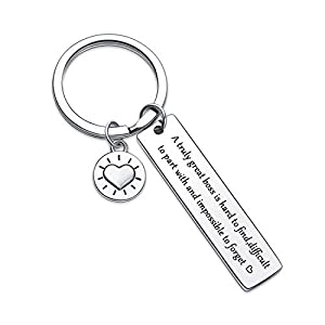 A Truly Great Boss is Hard to Find Difficult to Part with and Impossible to Forget Keychain,Boss Day jewelry Manager Appreciation keychain boss moving away keyring Phrase Engraved on stainless steel material keychain.vividly and in a way that is easy...