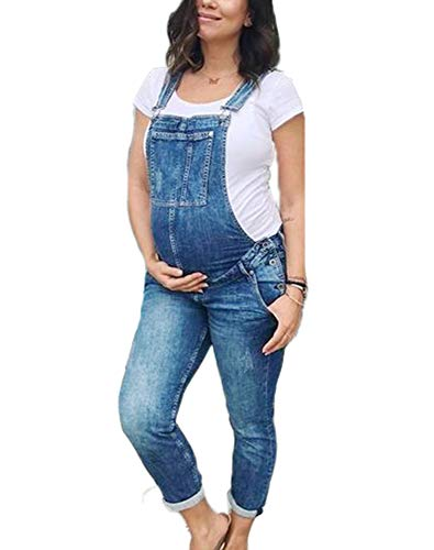 Salopette di Jeans per Donne Incinte Salopette di maternità Moda Salopette Denim Pantaloni di Jeans