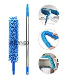 Flyngo Microfiber Duster for Home Cleaning Floor, Wall and Ceiling Flexible Broom/Brush/Mop
