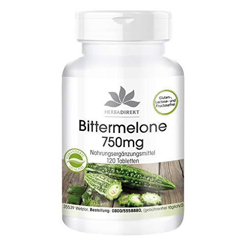 Bittermelone 750mg - hochdosiert - vegan - 120 Tabletten - mit Chrom
