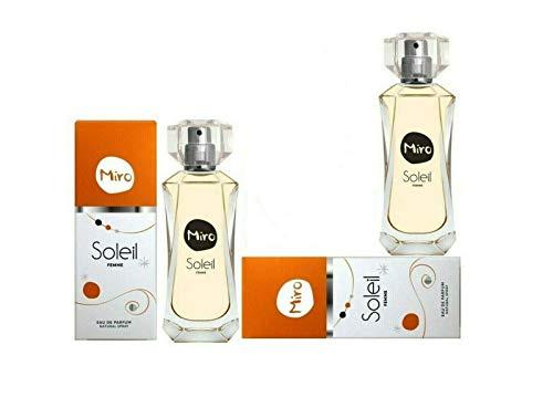 2 x Miro Soleil Eau de Parfum Natural Spray Vaporisateur 50 ml (100 ml)