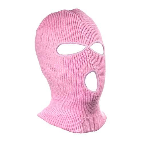 SUNTRADE 3 Loch Beanie Face Mask Ski für Männer und Frauen, Orange,Rosa,one Size