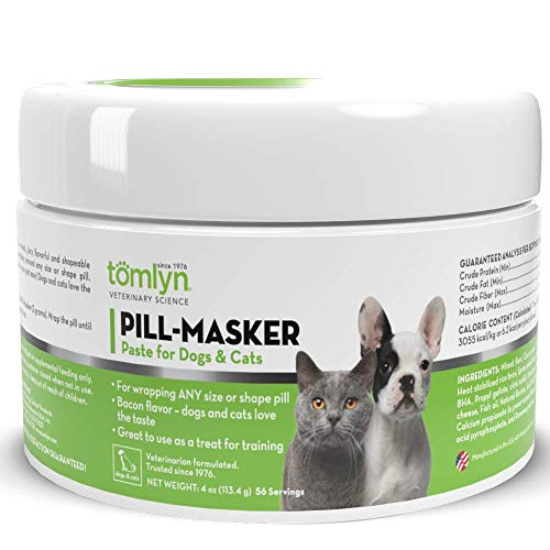 TOMLYN Pill-Masker Original Bacon-Flavored Paste for Dogs & Cats, 4oz
