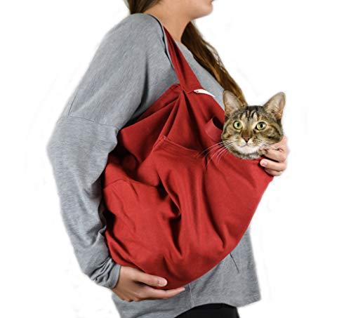 Katzentragetasche für Haustiere, klein, Rot