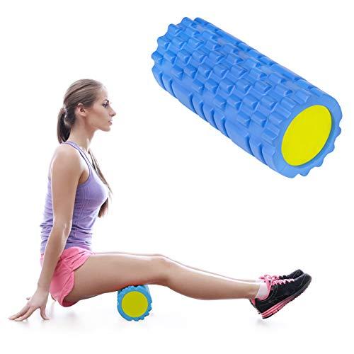 Calma Dragon Foam Roller Solid Core 89891, Rodillo de Masajes para Fitness, Yoga, Pilates, Masajes de Espalda, Masajeador Miofascial (Azul)