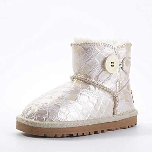 ZHWEI Kind Schneeschuhe Wasserdicht Rutschfest Verdicken Warme Schuhe Kind Schuhe Aus Baumwolle Winter Warme Schuhe Im Freien Rutschfest Winterstiefel