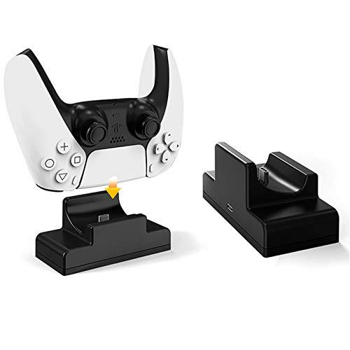 Doifck Cargador de Controlador PS5, Soporte de estación de Acoplamiento de Carga rápida USB Individual e indicador LED para Controlador PS 5,Single Charger