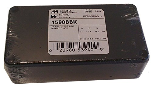 Hammond 1590BBK Black Diecast Aluminum Enclosure -- Inches (4.39
