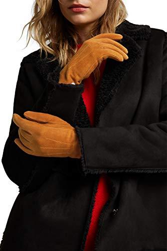 ESPRIT Accessoires Damen 110EA1R301 Winter-Handschuhe, 235/CARAMEL, 6 ½