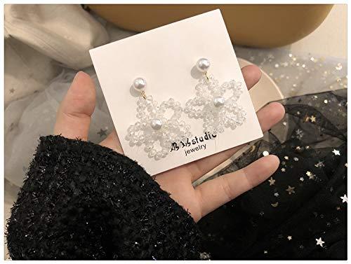 Chwewxi Parel oorbellen collectie ~ Koreaanse temperament zoete super fee oorbellen lange kwast oorbellen vrouw, wijn rood 39 kristal bloemen