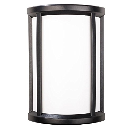Wireless or Wired Door Bell, Black Half Round Frame with White Insert