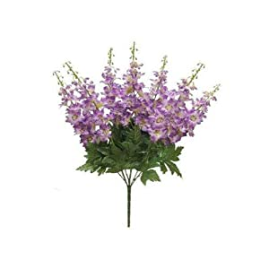 Artificial Silk Flowers Purple Delphinium Bush 22″ Bouquet 7-8281 PU 1 Pcs MG015