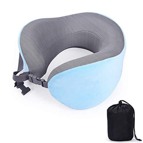 MSNLY Cuscino a Forma di U Memory Foam può Contenere Memory Foam Cuscino a Forma di U Cuscino da Viaggio Cuscino per Collo a Forma di U.