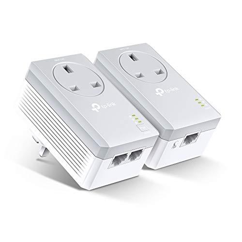 TP-Link PA4022PKIT Adattatore Powerline Starter Kit, Non Richiede alcuna configurazione, Spina Britannica