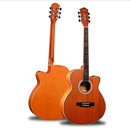 Boll-ATur Anfänger-Akustikgitarre-Akustikgitarren-Paket Anfänger-Gitarrenset mit Taschen-Stimmgurt Saiten-Plektren 40 Zoll