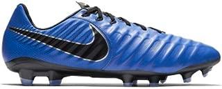Nike Men's Legend 7 Pro FG Soccer Cleats (Racer Blue/Black/Metallic Silver) (10)