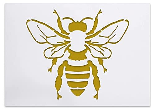 Schablone mit detaillierter Biene