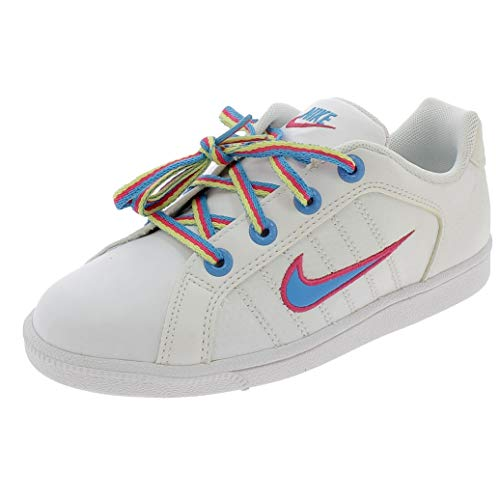 Nike Court Tradition 2 Plus PS Scarpe Bambina Bianche Pelle 386623 Bianco 31.5 EU