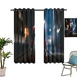 Cortinas anchas en una habitación oscura, The Avengers, Spider_man, cortinas de bolsillo ajustables que pueden fijar sombras de 183 x 243 cm
