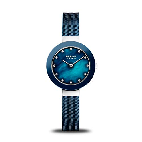 BERING dames analoog kwarts horloge met roestvrij stalen armband 11429-387