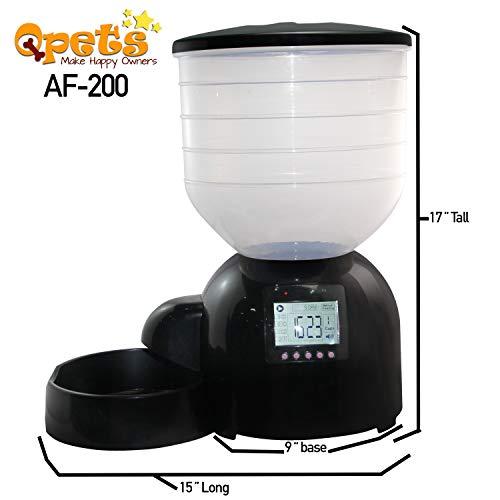 Qpets AF 200 Advanced Programmable Pet Feeder, XX-Large, Black