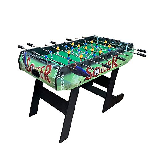 CJVJKN Folding Table Football, Free Standing Football Table Game Football Machine Sports Entertainment Game Table Size 80 63 120 cm