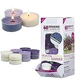 Smart Planet® Juego de 60 velas aromáticas de ambiente con aroma a vainilla y...